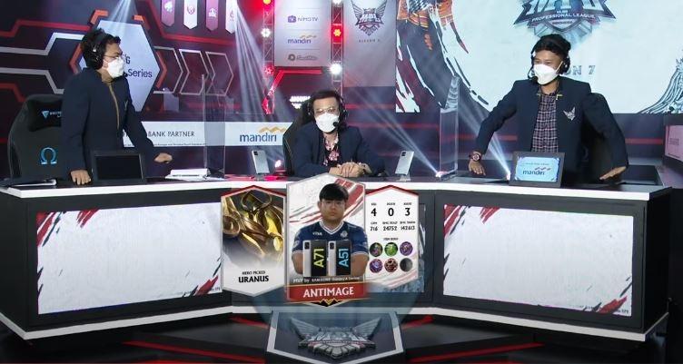 Antimage jadi MVP game ketiga saat EVOS mengalahkan Aerowolf. (YouTube/ MPL Indonesia)