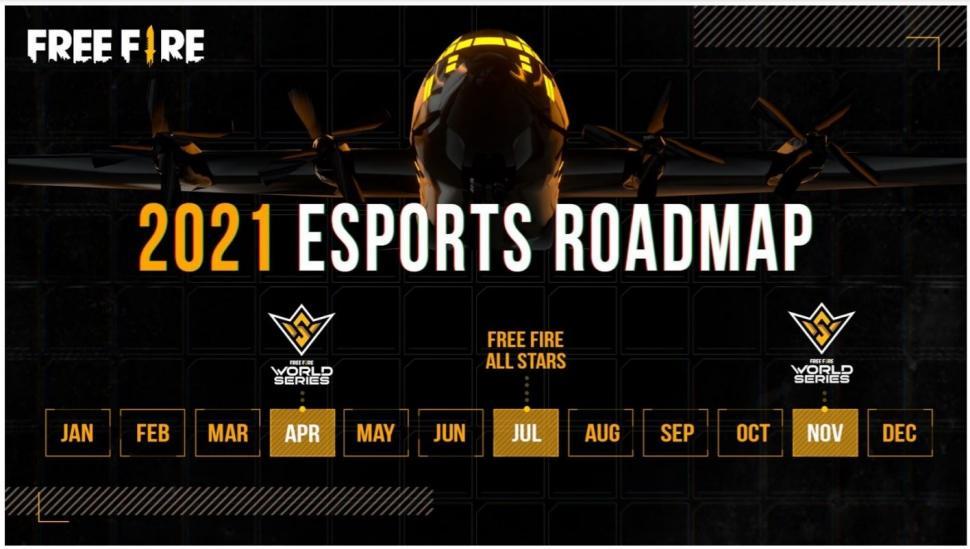 Roadmap Free Fire Esports 2021. (Garena)