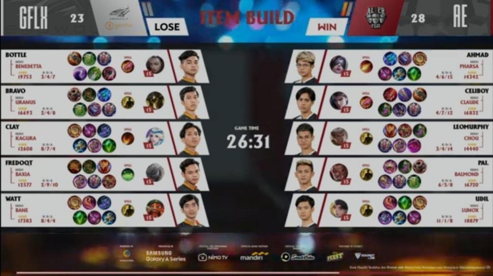 Game pertama Alter Ego vs Genflix Aerowolf di MPL Season 7 Week 5. (youtube/MPL Indonesia)