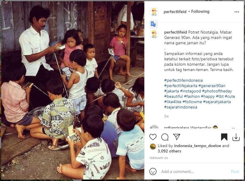 Potret mabar di zaman dulu ini bikin netizen nostalgia. (Instagram/ perfectlifeid)