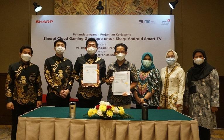 Kerja Sama Antara PT Sharp Electronics Indonesia denang Telkom Indonesia. (Sharp Indonesia)