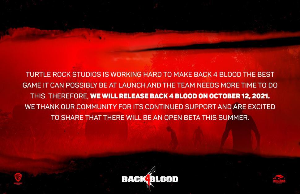 Back 4 Blood ditunda peluncurannya sampai Oktober 2021. (Turtle Rock Studios)