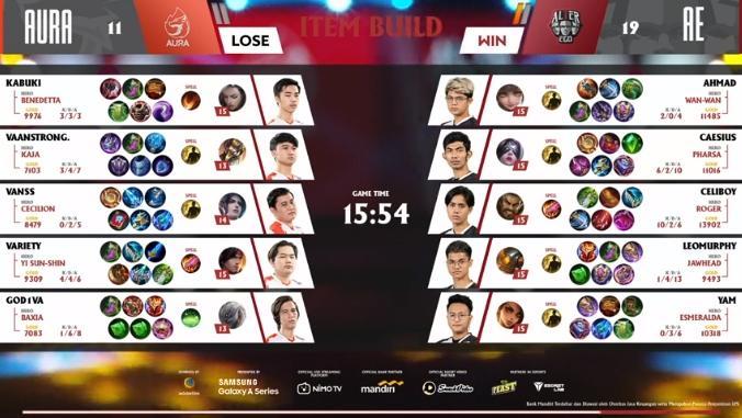 Game pertama Aura Fire vs Alter Ego. (youtube/MPL Indonesia)