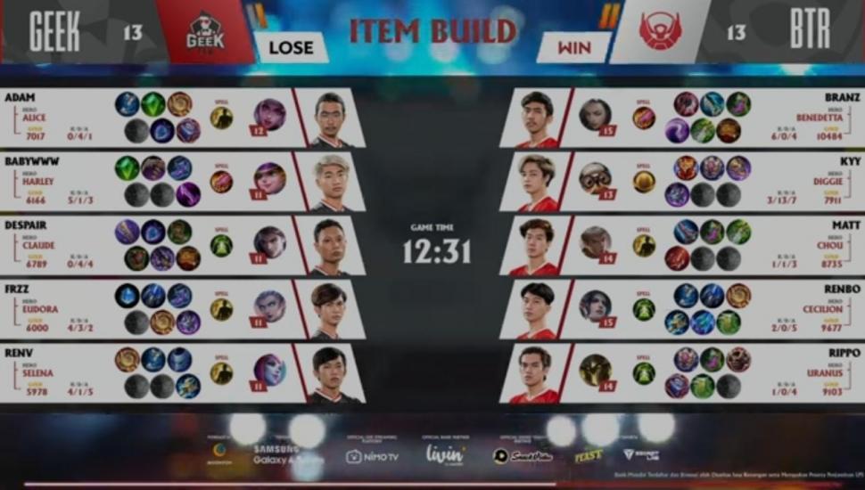 Game ketiga Bigetron Alpha vs Geek Fam. (youtube/MPL Season 7)