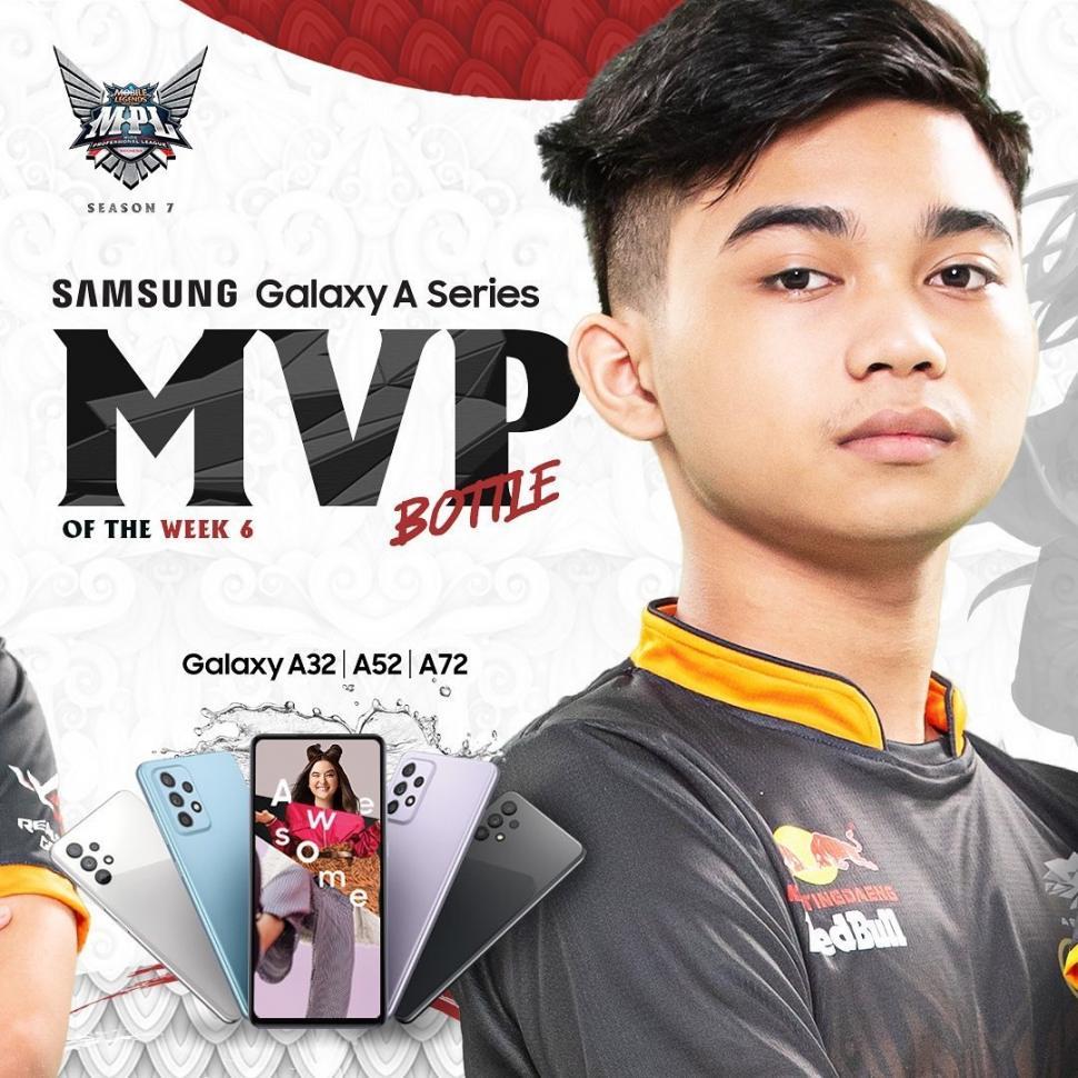 Bottle jadi MVP of The Week pada pekan keenam MPL Season 7. (Instagram/ mpl.id.official)