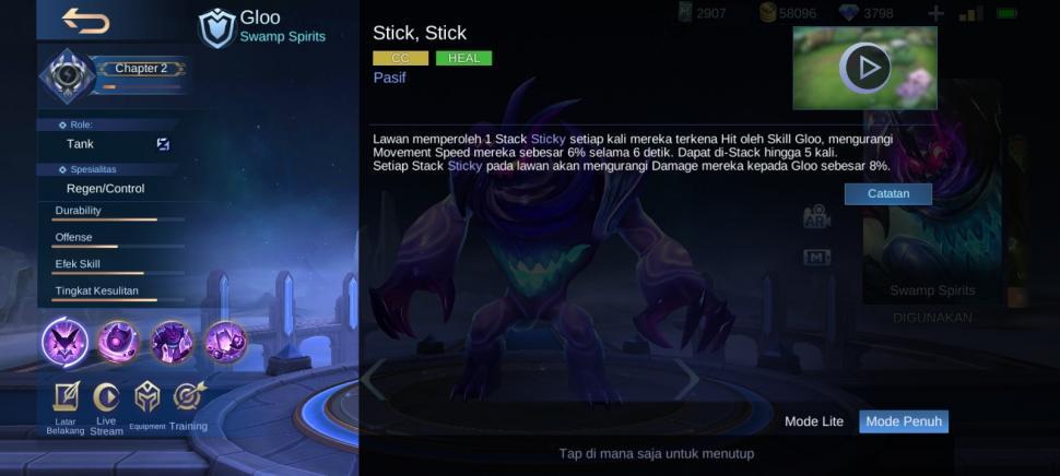 Skill pasif Gloo Mobile Legends. (HiTekno.com)