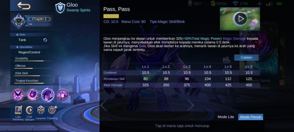 Skill dua Gloo Mobile Legends. (HiTekno.com)