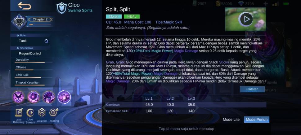 Skill ultimate Gloo Mobile Legends. (HiTekno.com)