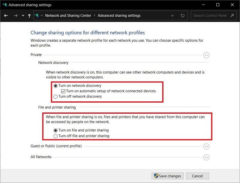 Berbagi Lanjutan Koneksi Lan Windows 10