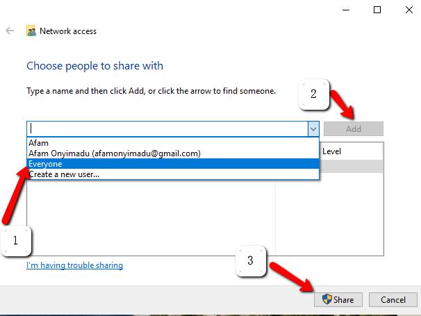 koneksi windows9
