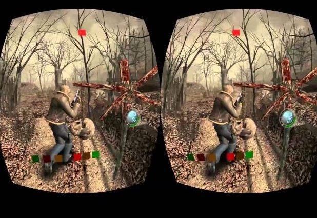Ilustrasi Resident Evil 4 jika di perangkat VR. (YouTube/ Normal Draham)