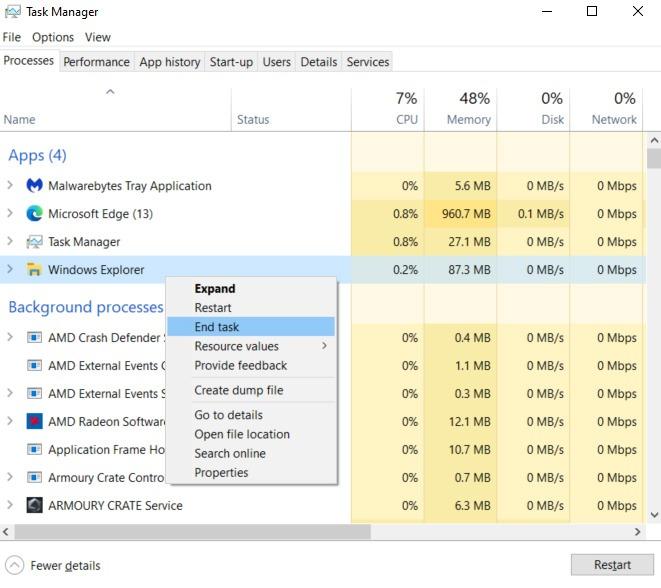Perbaiki Aplikasi Windows Tidak Merespons Tugas Akhir
