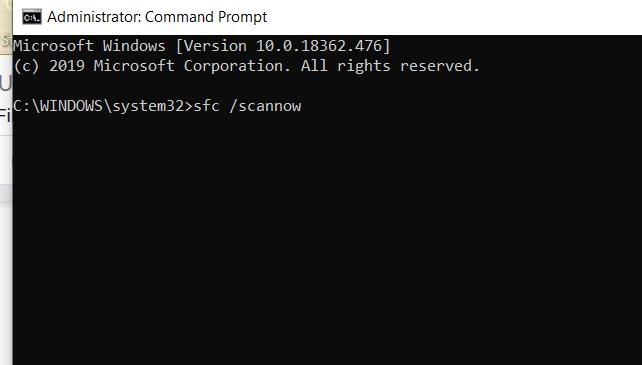 Layar Prompt Perintah Windows Tidak Responsif