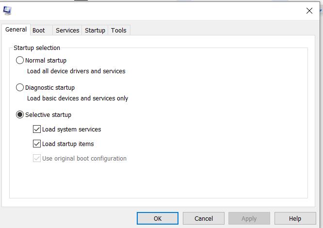 Tab Umum Windows Tidak Merespons