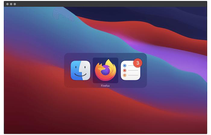Pengalih Aplikasi macOS.