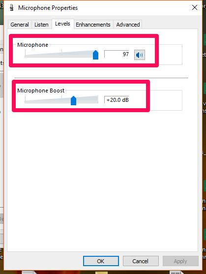 windows10-tingkat mikrofon
