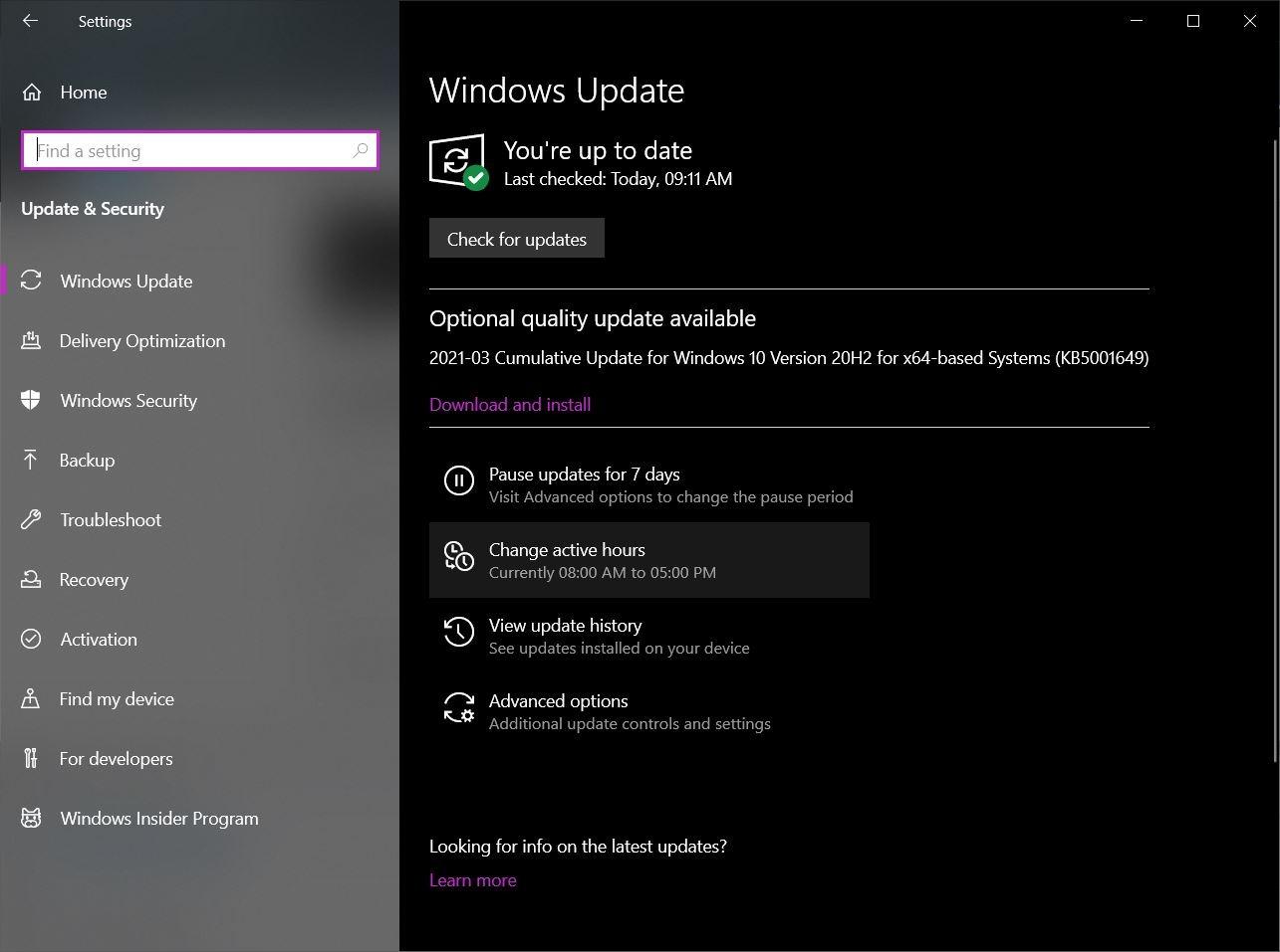 Pembaruan Windows 1
