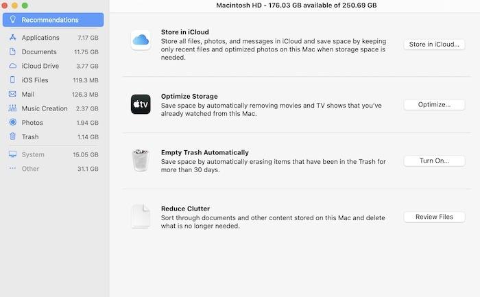 Mac Menjalankan Perbaikan Lambat, Kosongkan Penyimpanan
