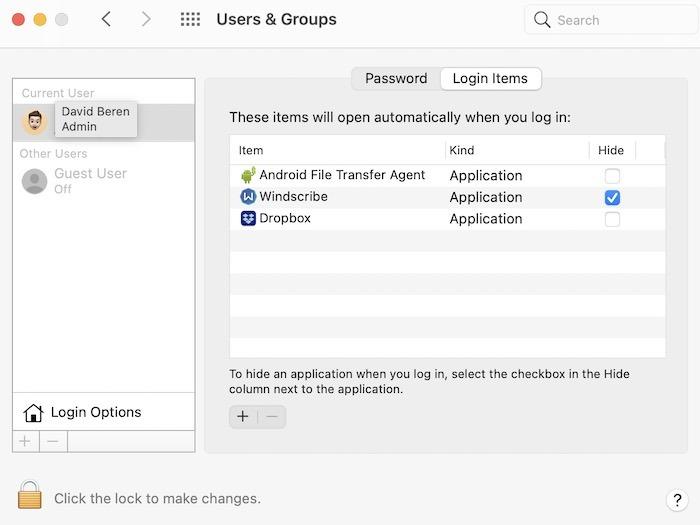 Mac Menjalankan Perbaikan Lambat Nonaktifkan Item Masuk