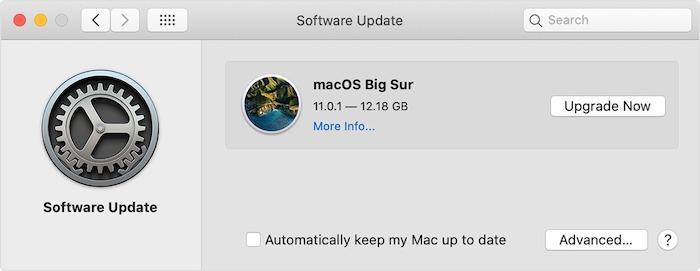 Mac Menjalankan Pembaruan Perangkat Lunak Perbaikan Lambat