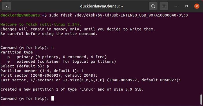 Perbaiki Usb Di Linux Fdisk Buat Partisi