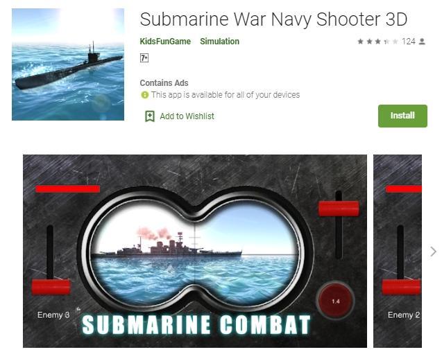 Game bertema kapal selam. (Play Store)