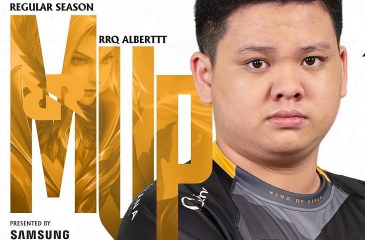 RRQ Albert raih MVP Regular Season MPL Season 7. (Instagram/ mpl.id.official)