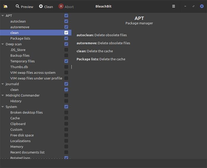 Mempercepat Ubuntu Bleachbit