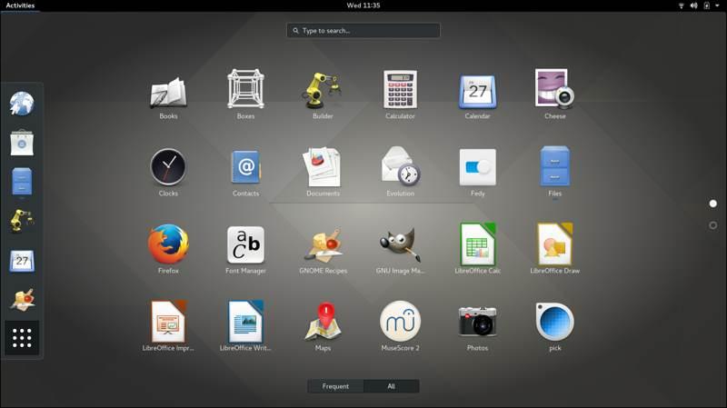 Desktop Linux Terbaik Untuk Layar Sentuh Gnome