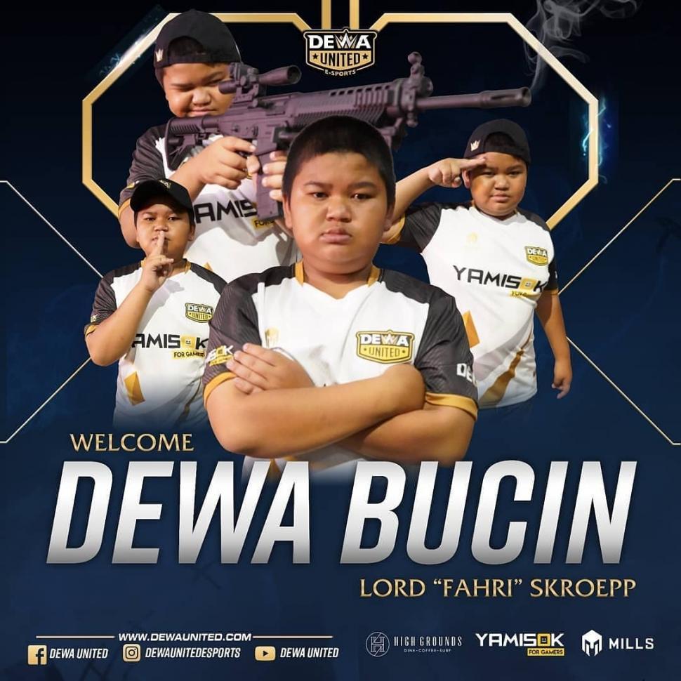 Fahri Skroepp alias Dewa Bucin gabung ke Dewa United Esports. (Instagram/ dewaunitedesports)