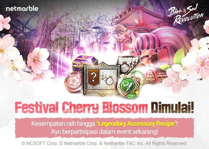 Festival Cherry Blossom hadir ke Blade&Soul Revolution. (Netmarble)