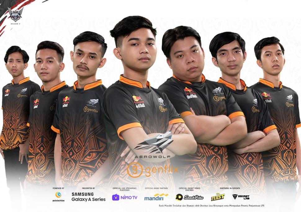 Roster Genflix Aerowolf Alpha MPL Season 7. (Dok MPL Indonesia)