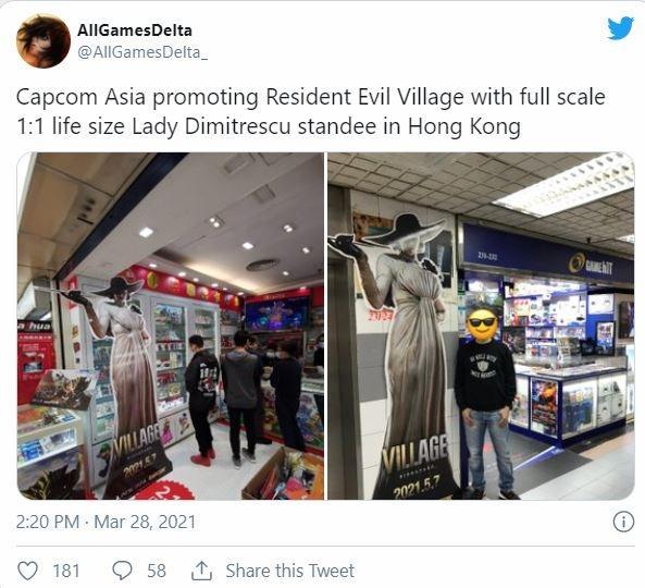 Promosi unik game Resident Evil Village. (Twitter/ AllGamesDelta_)