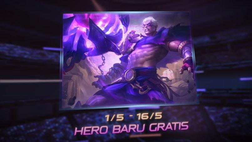 Hero baru gratis Phoveus di event 515. (YouTube/ Mobile Legends Bang Bang)