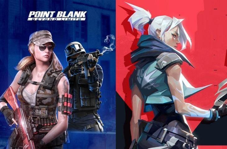 Point Blank vs Valorant. (kolase HiTekno.com)