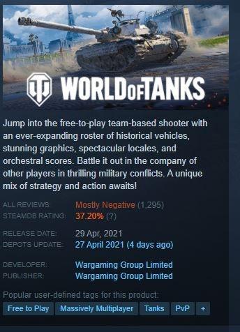 World of Tanks. (Steam)