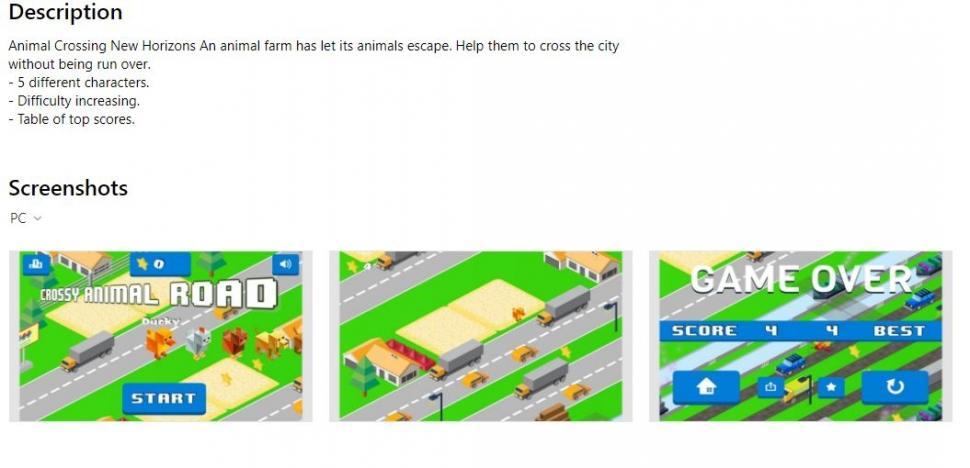 Ditemukan Animal Crossing Palsu di Microsoft Store. (Microsoft Store)