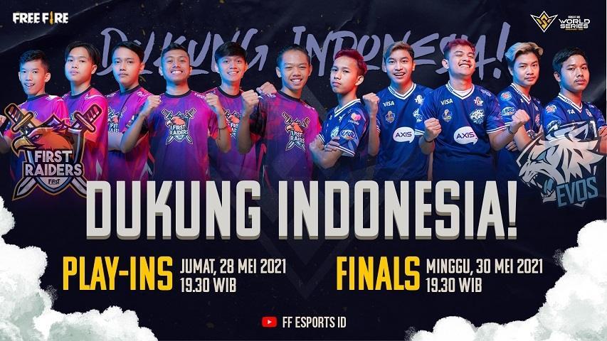 Garena Free Fire - Dukung Indonesia FFWS 2021 SG. (Garena)