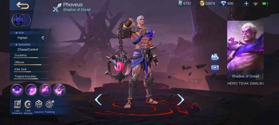 Cara mendapatkan hero Phoveus Mobile Legends. (HiTekno)