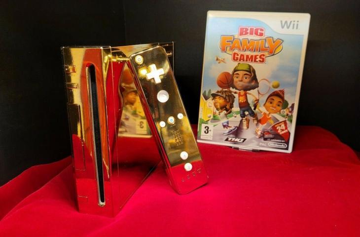 Nintendo Wii berlapis emas. (eBay)