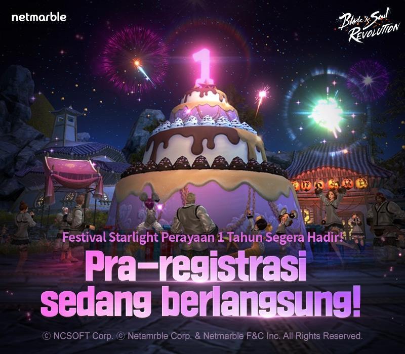 Blade&Soul Revolution rilis situs khusus untuk pra-registrasi perayaan 1 tahun. (Netmarble)