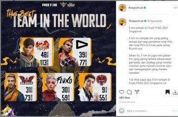 Lima tim terbaik di FFWS 2021. (Instagram/ ff.esports.id)