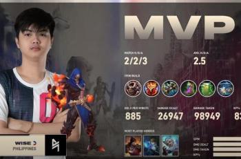 Wise dari Blacklist Filipina jadi MVP game kedua. (YouTube/ MPL Indonesia)