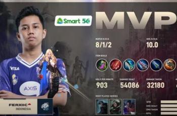 Ferxiic jadi MVP game kedua. (YouTube/ MPL Indonesia)