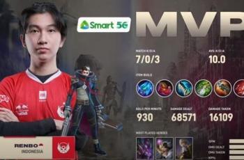 BTR Renbo jadi MVP game pertama. (YouTube/ MPL Indonesia)