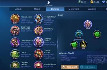 Athena Shield. (Mobile Legends)