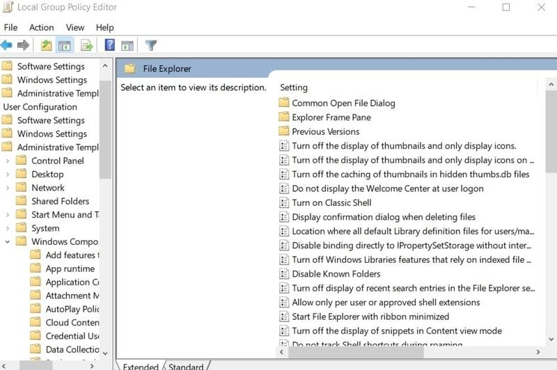 Kesalahan File Editor Grup Kebijakan Lokal