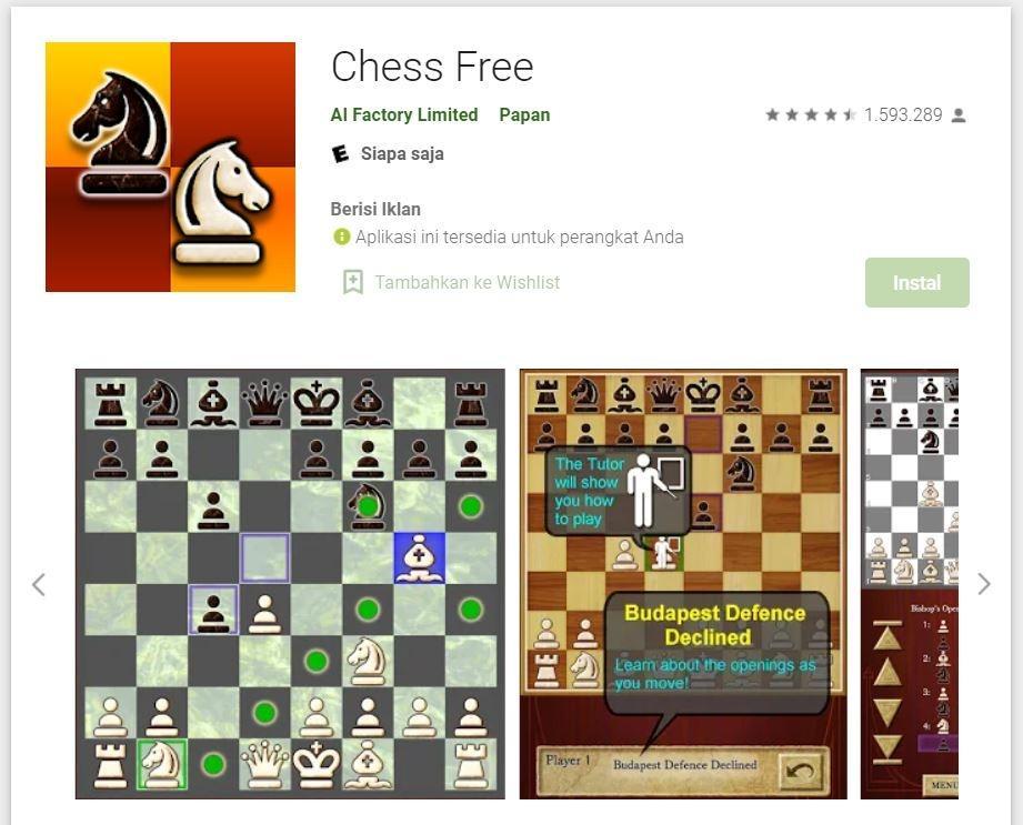 Chess Free. (Google Play Store)