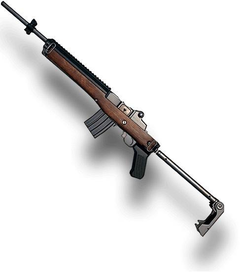 Senjata PUBG Mobile Terbaik - Mini 14. (PUBG)