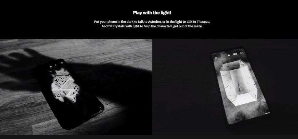 Unmaze menggunakan sensor cahaya untuk memainkannya. (Unmaze)